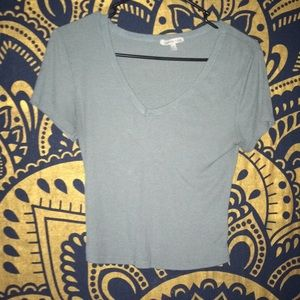 Blue cropped top from Charolette Russe
